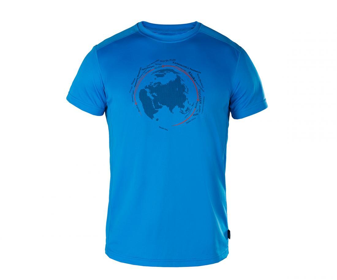 Футболка Globe МужскаяФутболки, поло<br>Мужская футболка «свободного» кроя с оригинальным аутдор принтом.<br><br>материал с высокими показателями воздухопроницаемости<br>&lt;li...<br><br>Цвет: Голубой<br>Размер: 54