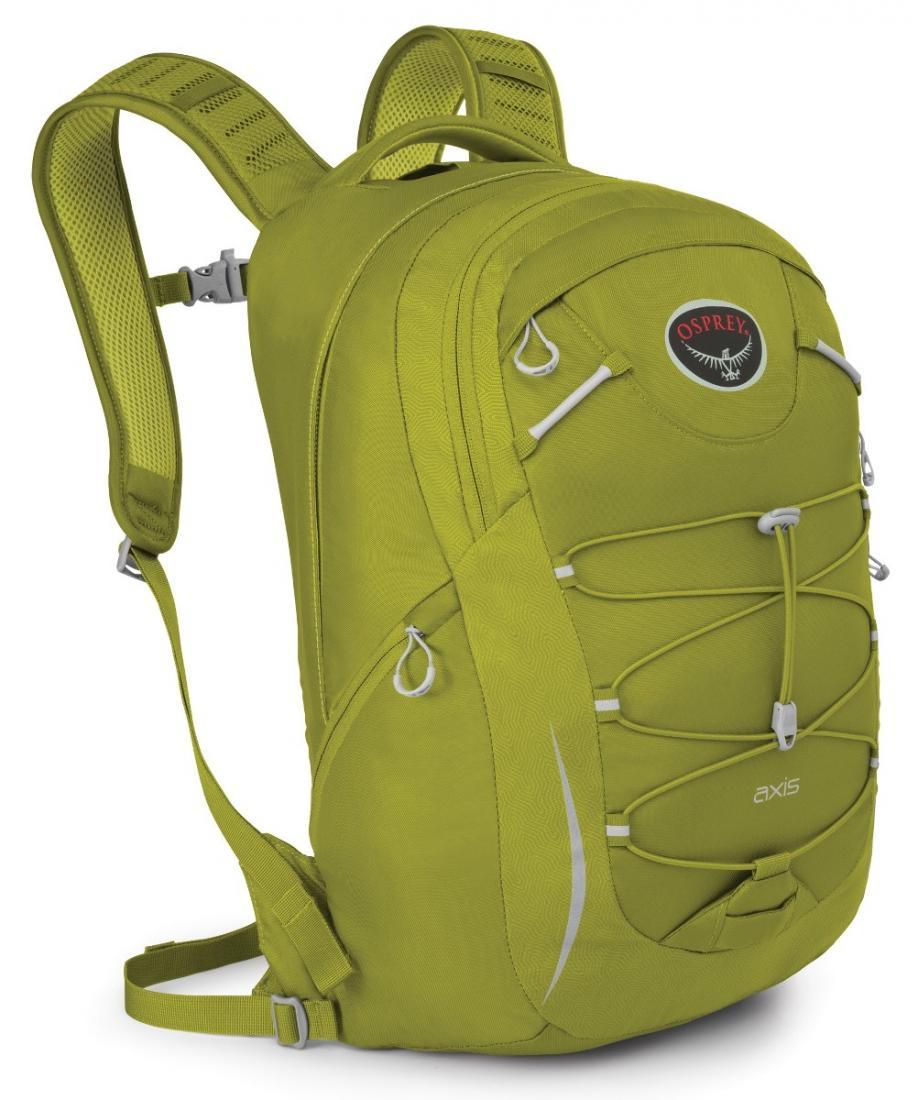 Рюкзак Axis 18Рюкзаки<br>Особенности: <br> Вшитые лямки EVA с подкладкой из сеткой <br> Спина с подкладкой из сеткой <br> Боковые карманы на молнии <br> Стяжка на фасаде &lt;...<br><br>Цвет: Светло-зеленый<br>Размер: 18 л