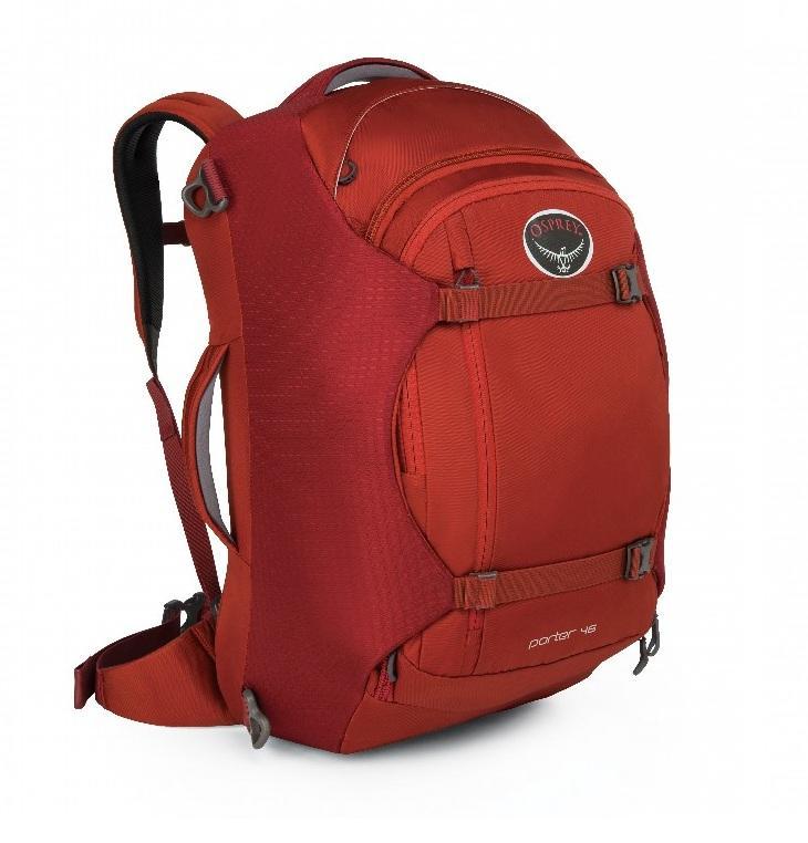 Сумка-рюкзак Porter 46Рюкзаки<br>Porter 46   идеальный, надежный и удобный рюкзак для путешествий. Несколько карманов внутри основного отделения позволяют разложить все вещи ...<br><br>Цвет: Красный<br>Размер: 46 л
