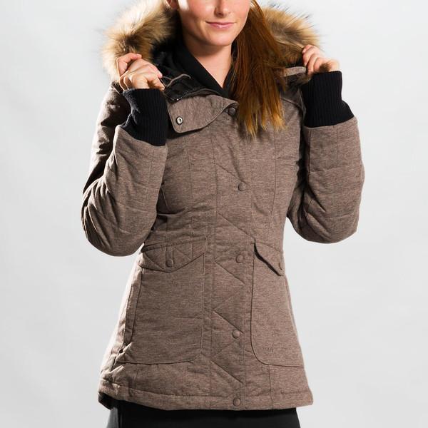 Lole Куртка LUW0175 INES JACKET (XL, WALNUT HEATHER, ,)