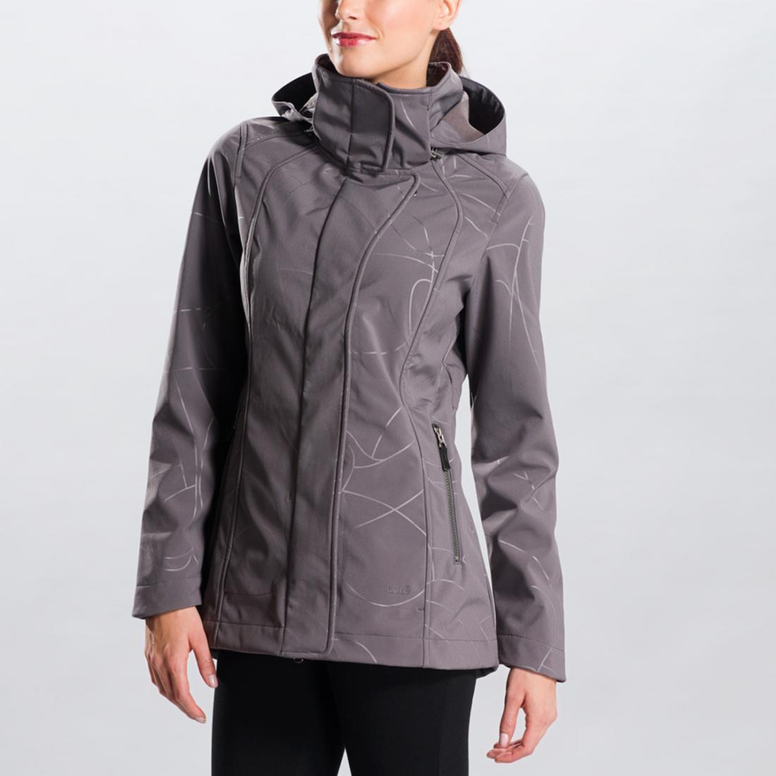 Куртка LUW0191 STUNNING JACKETКуртки<br>Легкий демисезонный плащ из софтшела с оригинальным принтом – функциональная и женственная вещь. <br> <br><br>Регулировки сзади на талии...<br><br>Цвет: Бежевый<br>Размер: S