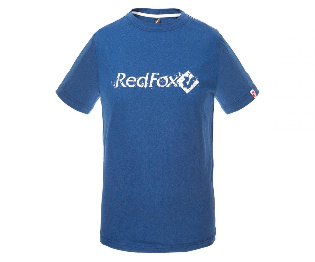 Футболка RF-gold II МужскаяФутболки, поло<br><br>Мужская футболка  полуприлегающего силуэта<br>Крупный логотип Red Fox на груди<br>МАТЕРИАЛ: 70% Polyester 30% Cotton, 145g/m2<br>РАЗМЕРНЫЙ РЯД: 46-56<br><br><br>Цвет: Синий<br>Размер: 54