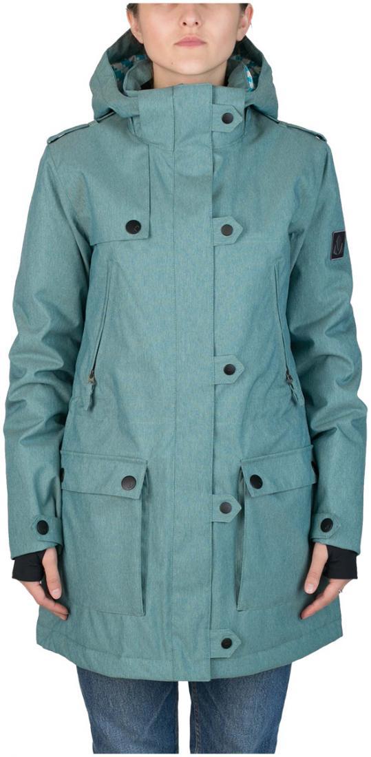 Куртка утепленная Prk WКуртки<br>Женственность и функциональность гармонично сочетаются в куртке PRK. Удлиненная парка способна сделать силуэт визуально стройнее благодаря стяжкам на талии. В этой куртке детали выполняют не только декоративную функцию: кнопки надежно фиксируют ветроза...<br><br>Цвет: Бирюзовый<br>Размер: 46