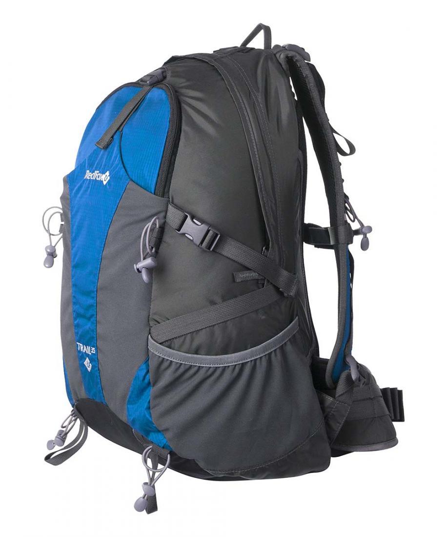 Рюкзак Trail 35Рюкзаки<br><br> Рюкзак Trail 35 – рюкзак для трекинга и прогулок в горах.<br><br><br>подвесная система Active<br>фронтальный карман с эластичными вставками...<br><br>Цвет: Синий<br>Размер: 35 л