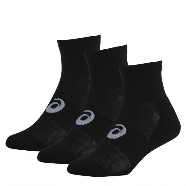 Носки 3PPK QUARTERНоски<br><br>Носки ASICS 3PPK QUARTER имеют идеальную плотную посадку и не скатываются по ноге, оснащены амортизационными вставками для поддержки свода стопы и дополнительного комфорта. В комплекте 3 пары.<br><br>Характеристики носков ASICS 3PPK QUARTER:&/h2...