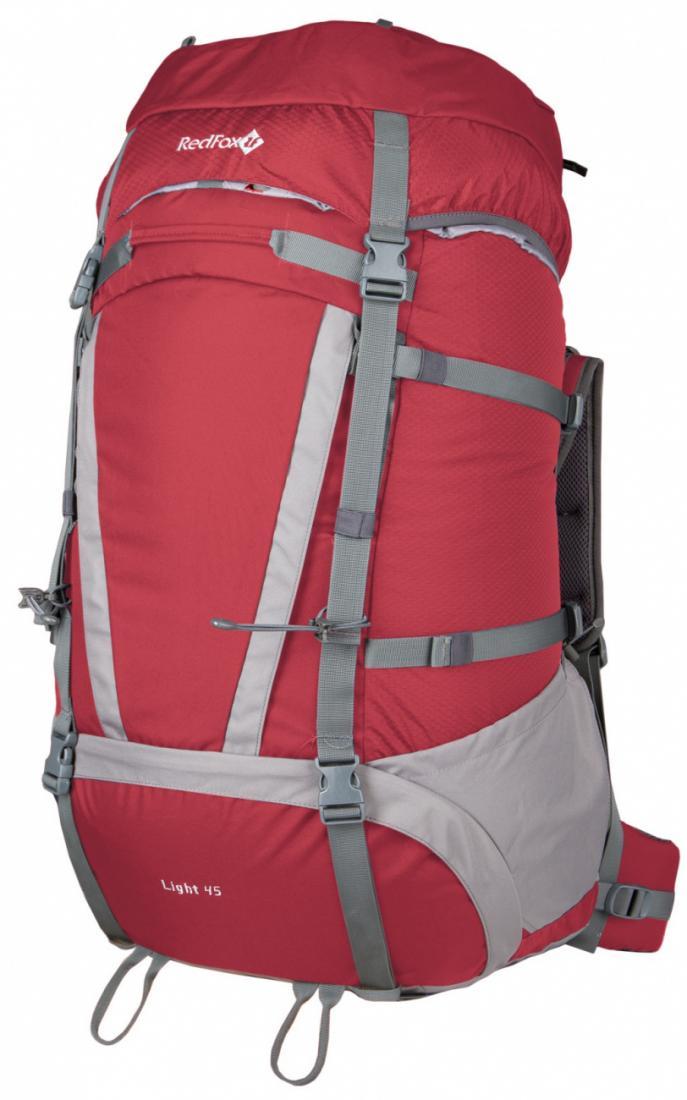 Рюкзак Light 45 V3Туристические, треккинговые<br>Функциональный рюкзак для продолжительных походов.<br><br>назначение: треккинг<br>подвесная система Active<br>съемный мягкий поясной ремень анатомической формы<br>два независимых отделения на молнии<br>съемный клапан...<br><br>Цвет: Красный<br>Размер: None