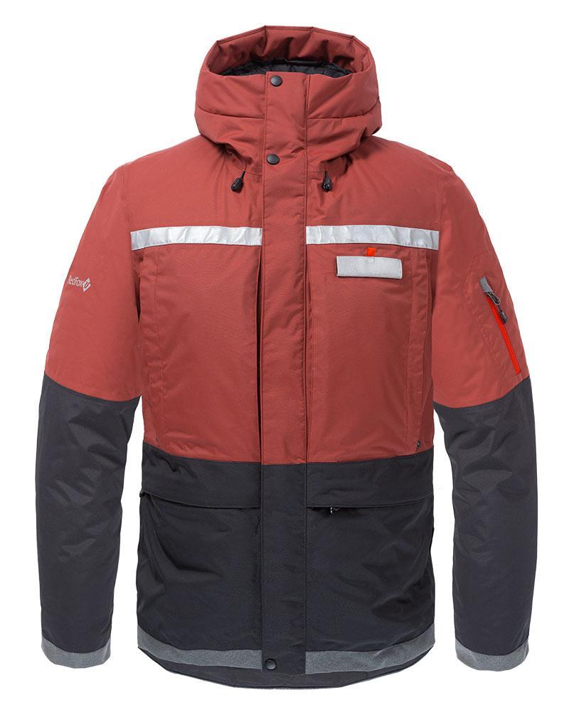Куртка утепленная Malamute МужскаяКуртки<br><br> Функциональная куртка с повышенными водоотталкивающими свойствами, выполнена с применениемплотной внешней мембранной ткани и высокотехнологичного утеплителя. Обеспечивает защиту в самых экстремальных погодных условиях.<br><br> Основные характерист...<br><br>Цвет: Бордовый<br>Размер: 46