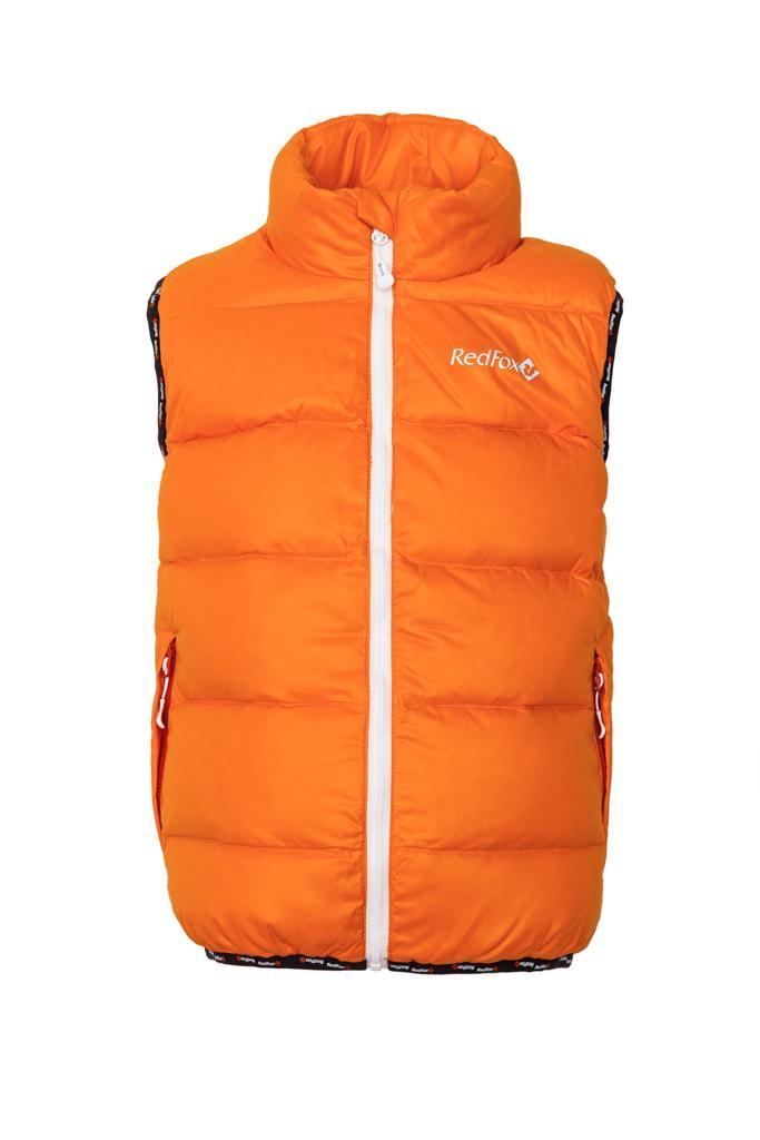 Жилет пуховый Everest ДетскийЖилеты<br>Легкий пуховый жилет для долгих и комфортных прогулок. Идеально подходит в качестве дополнительного утепления для прогулок в промозглую погоду.<br> <br><br><br><br> Материал – Polyamide.<br><br> <br><br><br> Утеплитель – гусиный пу...<br><br>Цвет: Оранжевый<br>Размер: 146