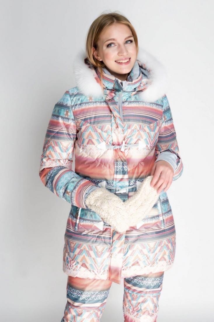Куртка 48536 жен.Куртки<br>Удлиненная модель куртки-пуховика из принтованной мембранной ткани с высокими характеристиками влаго-ветрозащиты, окрашенной по сложно...<br><br>Цвет: Голубой<br>Размер: 46