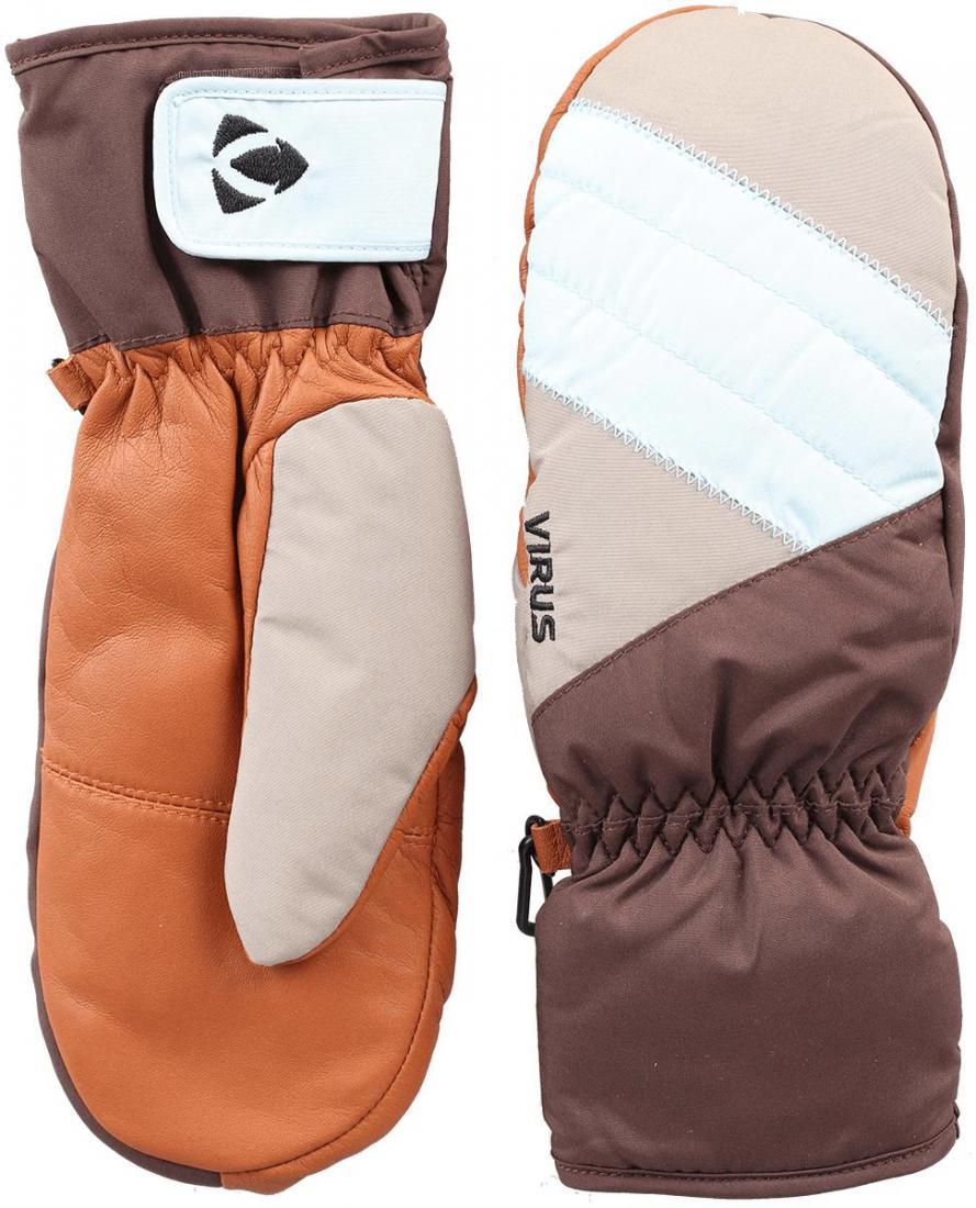 Рукавицы Fluff W женскиеВарежки<br>Женские рукавицы для комфортного пребывания в холодной среде. Утеплитель HyperLoft надежно сохраняет тепло внутри. Регулировка запястья допол...<br><br>Цвет: Коричневый<br>Размер: M