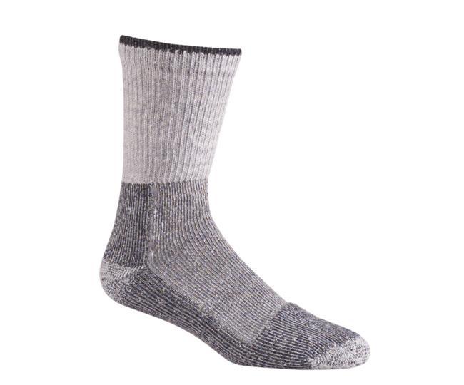 Носки рабочие 6604-2 Worc Crew СерыйНоски<br>Вы любите Outdoor, но это тяжелое испытание для Ваших ног. Благодаря сочетанию шерсти и акрила, эти носки обеспечивают необходимую теплоизоляцию и эффективно отводят влагу, сохраняя ноги в сухости и тепле при низких температурах.<br><br>Специальная конструкция вязки Memory-Knit позволяет носку более плотно облегать ногу и сохранять свою форму после многократных стирок<br>Усиленные высокая пятка и удлиненный носок для дополнительного комфорта и максимального срока службы<br>Полые термоволокна по всему носку для защиты от компрессионных повреждений и теплоизоляции<br>Темп. режим: Cold Weather<br>Толщина: Толстые<br>Высота: До середины голени<br>Состав: 44% акрил, 36% шерсть, 19% нейлон, 1% Spandex<br><br><br>Цвет: Серый<br>Размер: M