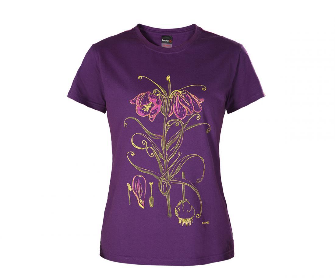 Футболка Lilly ЖенскаяФутболки, поло<br>Городская женская футболка из 100% Хлопка.<br> <br> Основные характеристики:<br><br>приталенный силуэт<br>удобный полукруглый вырез горловины<br>короткий рукав<br>декоративная отстрочка по плечевому поясу и спинке...<br><br>Цвет: Фиолетовый<br>Размер: 48