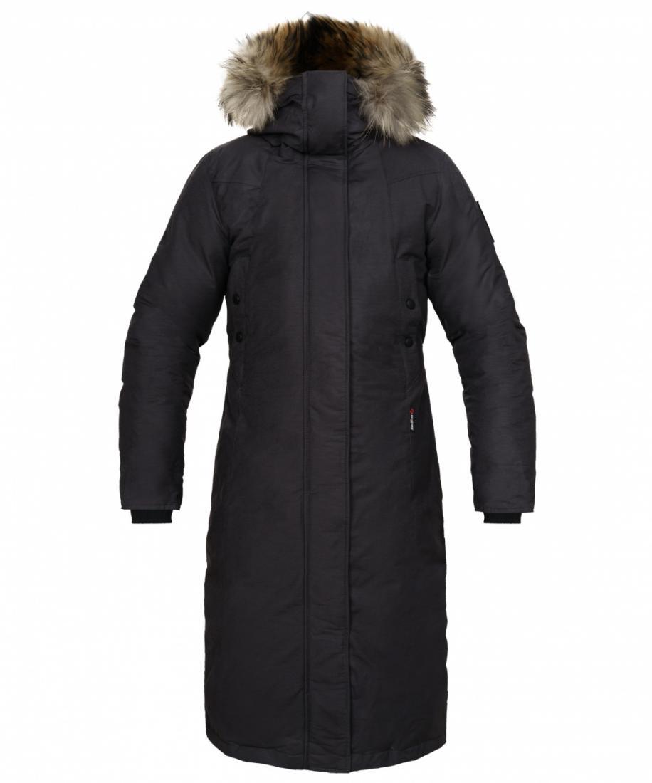 Пальто пуховое Aurora R ЖенскоеПальто<br>Женское пуховое пальто для использования в условиях очень низких температур.<br><br><br>прочный внешний материал<br>антигрязевая обработка материала<br>дополнительное утепление плечей синтетическим утеплителем<br>капюшон с р...