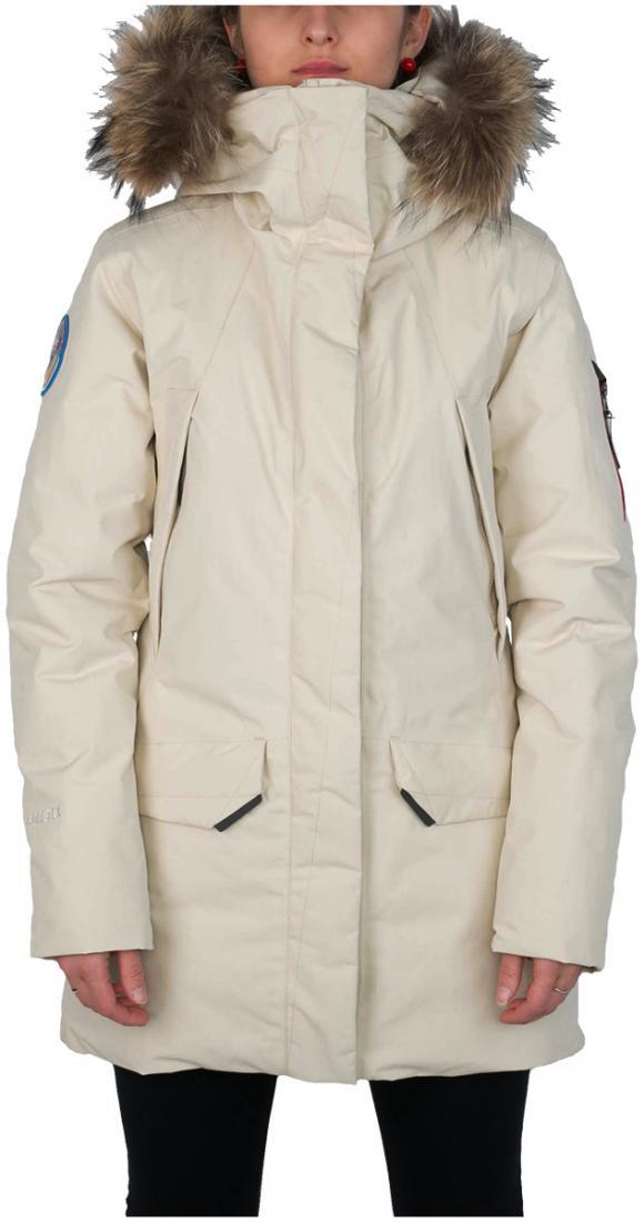 Куртка пуховая Kodiak II GTX ЖенскаяКуртки<br><br><br>Цвет: Бежевый<br>Размер: 50