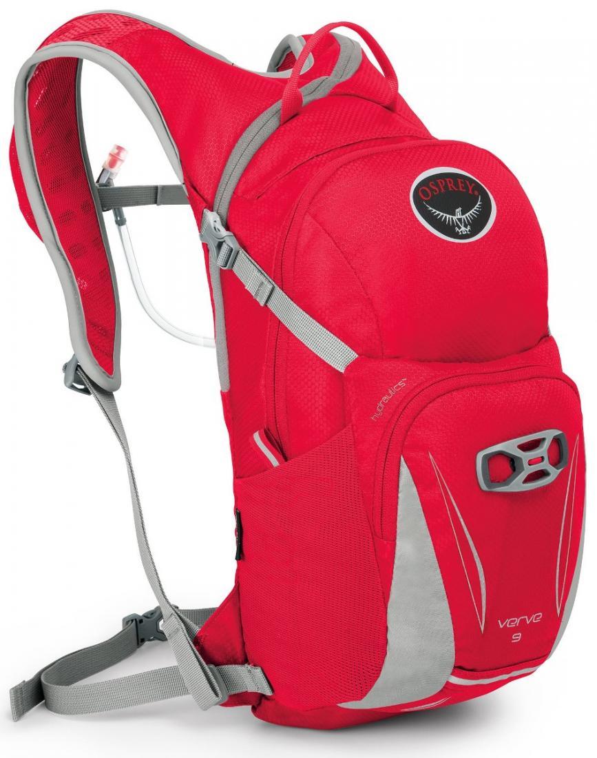 Рюкзак Verve 9Рюкзаки<br>Женский рюкзак Verve 9 имеет встроенный питьевую систему Hydraulics™ объемом 3 л. Асимметричная молния обеспечивает быстрый доступ к питьевой системе, позволяя легко пополнить его в любой момент. Питьевая система оснащена уникальной гидростатической пл...<br><br>Цвет: Красный<br>Размер: 9 л