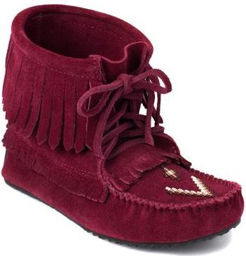 Manitobah Мокасины Harvester Suede Moccasin Unlined женские Бордовый
