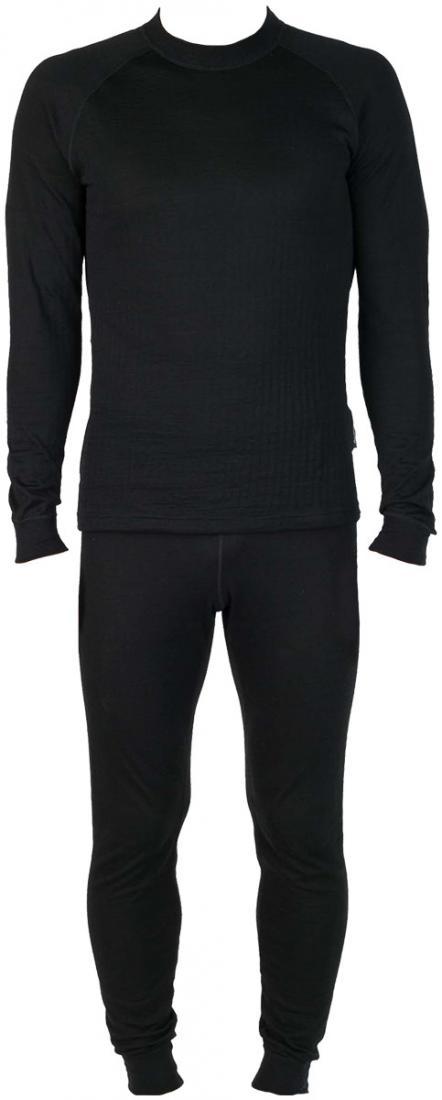 Термобелье костюм Natural DryКомплекты<br>Теплое белье из смесовой ткани: шерстяные волокна греют, анити акрила и полипропилена добавляют белью эластичности исокращают время испарения влаги.<br> <br> Основные характеристики:<br><br>свободный крой конструкции<br>Плоские швы&lt;...<br><br>Цвет: Черный<br>Размер: 58