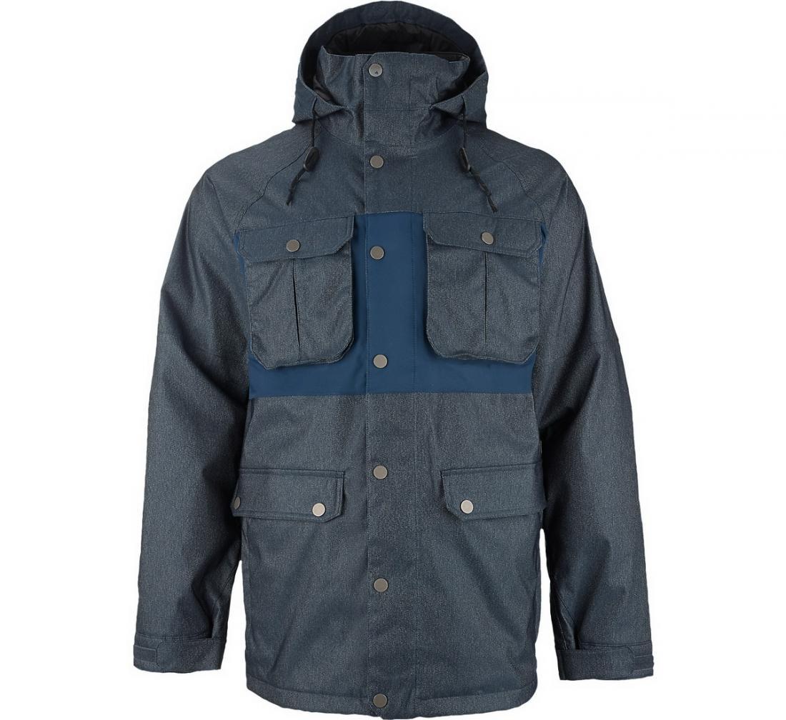 Куртка муж. г/л MB FRONTIERКуртки<br>Эта куртка создана для уверенных в себе, спортивных мужчин, которые предпочитают пассивному отдыху сноуборд. FRONTIER надежно защищает своего обладателя от снега, ветра и холода и позволяет кататься с удовольствием. Благодаря отличной посадке по фигуре, м...<br><br>Цвет: Темно-серый<br>Размер: M