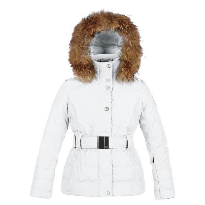 Куртка с иск.мехом 1000-JRGL/A детскаяКуртки<br>Зимняя мембранная куртка (8000мм/8000гр/м2) анатомичного кроя для девочек. Все швы проклеены, вентиляция в зоне подмышек, Утепленные флисовые карманы, Снегозащитная юбка. Искуственный мех на капюшоне. Утеплитель – SPECTM SD, который обладает свойствами пу...<br><br>Цвет: Белый<br>Размер: 8A