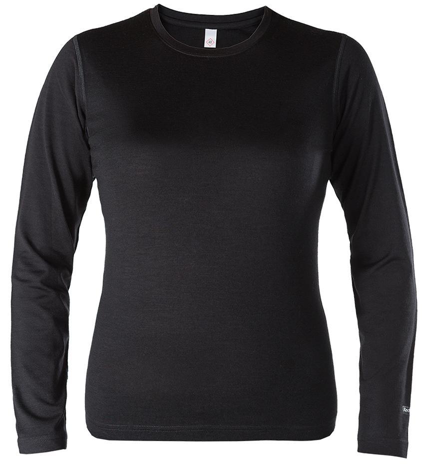 Термобелье футболка с длинным рукавом Merino 50 ЖенскаяФутболки<br><br>основное назначение: Arctic, Trekking, City&amp;Travel;<br>мягкая высококачественная мериносовая шерсть<br>слегка свободная посадка<br>естественная терморегуляция и защита от возникновения неприятного запаха<br>круглый выр...<br><br>Цвет: Черный<br>Размер: XS