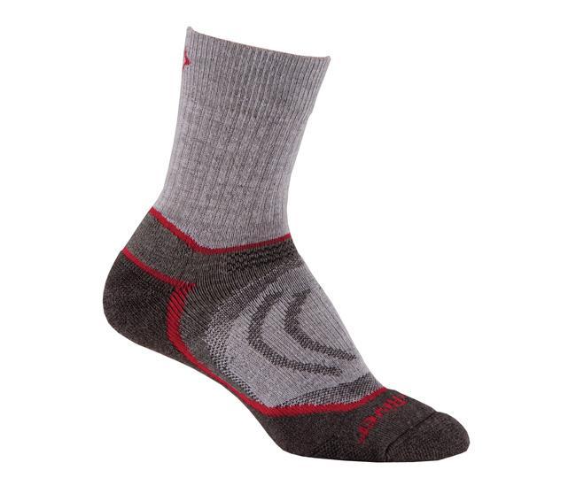 Носки турист. 2950 Trail Jr.Crew детскиеНоски<br><br> Тонкие детские носки с идеальной посадкой. Благодаря уникальной системе переплетения волокон Wick Dry®, влага быстро испаряется с поверхности кожи, сохраняя ноги в комфорте.<br><br><br>Уникальная система посадки URfit™<br>Специальные...<br><br>Цвет: Серый<br>Размер: S