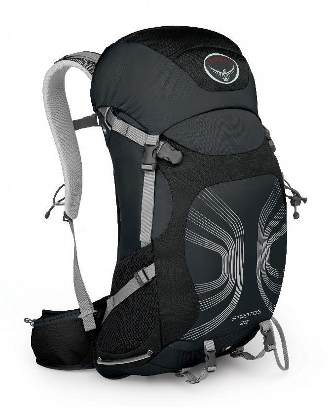 Рюкзак Stratos 26Туристические, треккинговые<br><br><br>Цвет: Черный<br>Размер: 24 л