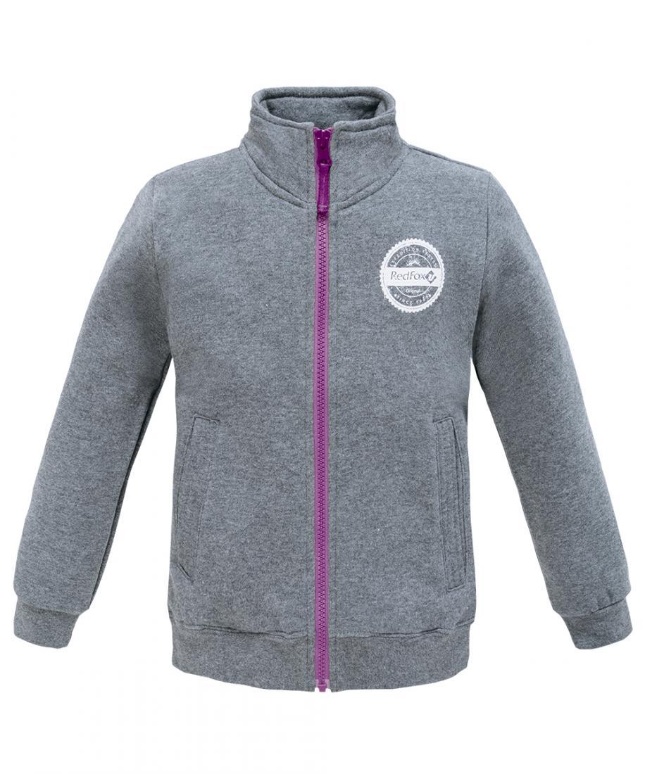 Куртка Champion Kids ДетскаяКуртки<br>Удобная и практичная куртка для занятий спортом. Изделие выполнено из мягкого трикотажа с начесом. На куртке - боковые карманы и центральная молния.<br><br>материал: 100% Cotton, 300 g/sqm<br><br><br>Цвет: Темно-серый<br>Размер: 158