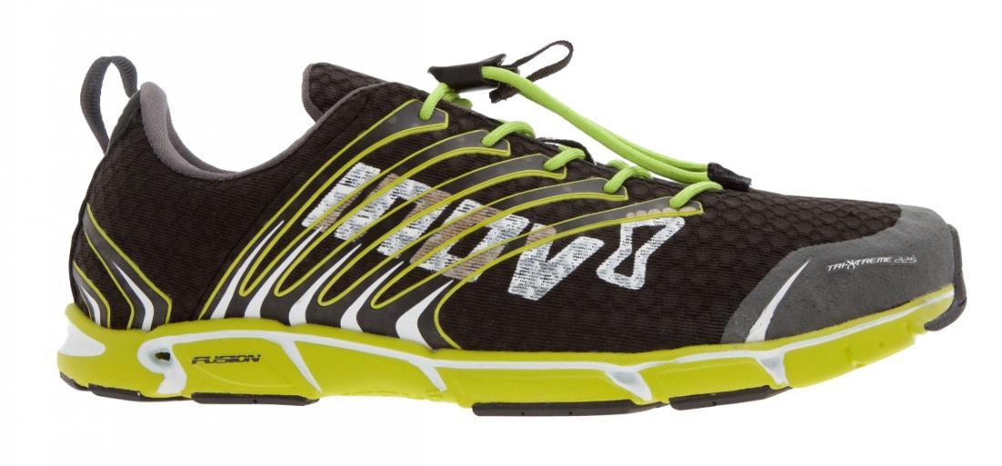 Кроссовки мужские tri-x-treme™ 225Бег, Мультиспорт<br><br> Мужские кроссовки INOV8 Tri-X-Treme™ 225 – это выбор чемпионов. За счет своей легкости они идеально подходят для триатлона – в кроссовках одина...<br><br>Цвет: Черный<br>Размер: 10.5