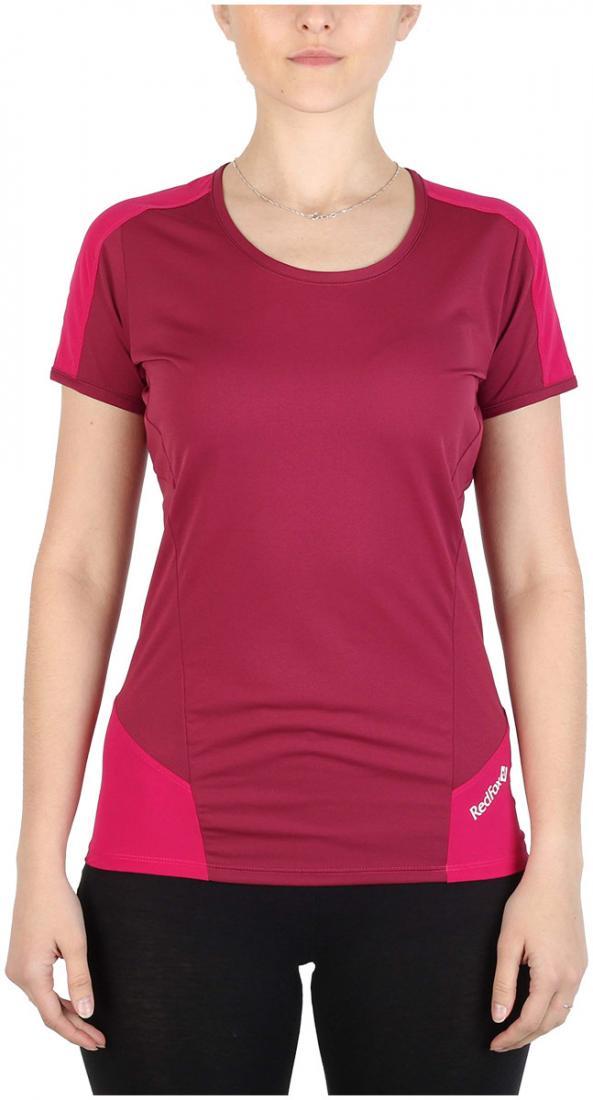 Футболка Amplitude SS ЖенскаяФутболки, поло<br><br> Легкая и функциональная футболка, выполненная изкомбинации мягкого полиэстерового трикотажа, обеспечивающего эффективный отвод вла...<br><br>Цвет: Малиновый<br>Размер: 44