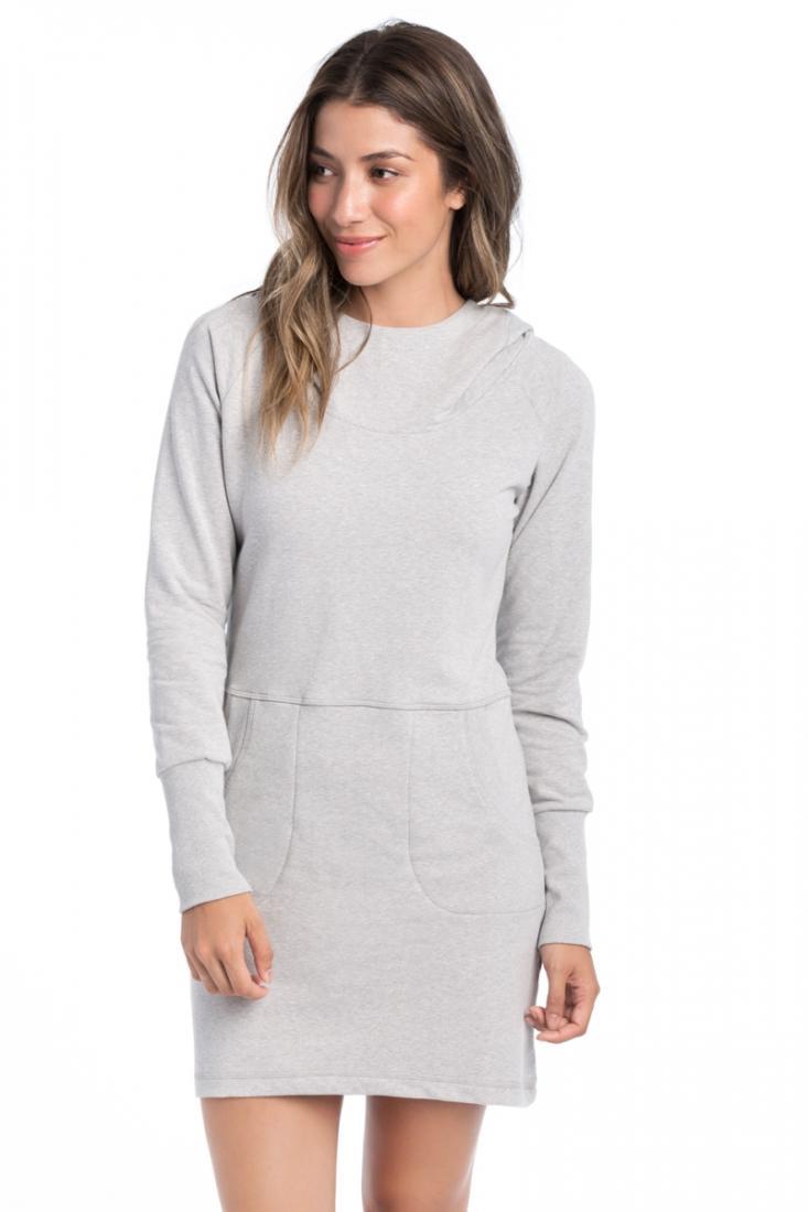 Платье LSW2104 ELEKTRA DRESSПлатья<br>Это удобное, мягкое платье имеет свободную посадку и широкий ворот с капюшоном. Оригинальные манжеты, два удобных передних кармана и инте...<br><br>Цвет: Серый<br>Размер: S