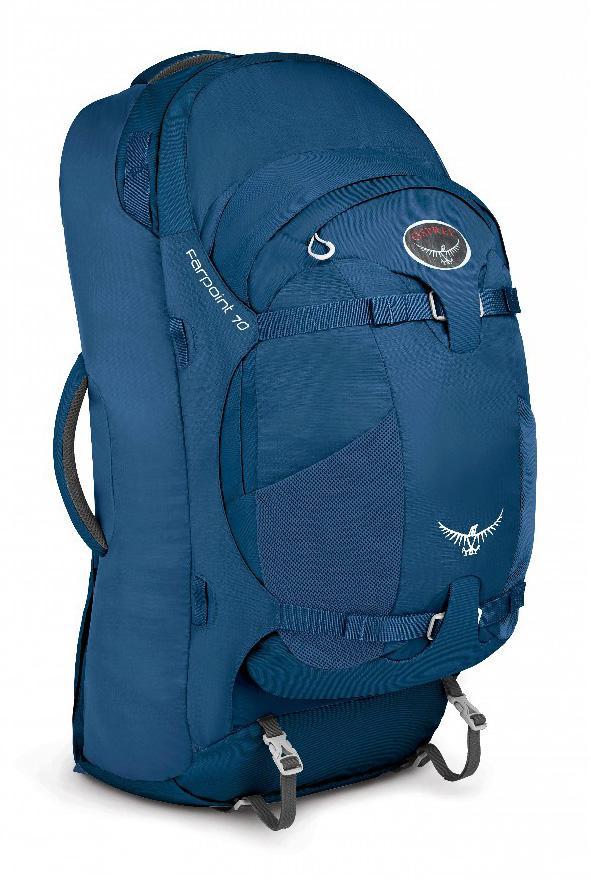 Сумка Farpoint 70Рюкзаки<br>Серия Farpoint   самые легкие рюкзаки для путешествий. Благодаря съемной подвеске на молнии, с сеткой для вентиляции, Farpoint можно использовать как классический рюкзак или же в качестве сумки через плечо с организацией, как у чемодана. Мягкие верхняя...<br><br>Цвет: Синий<br>Размер: 70 л