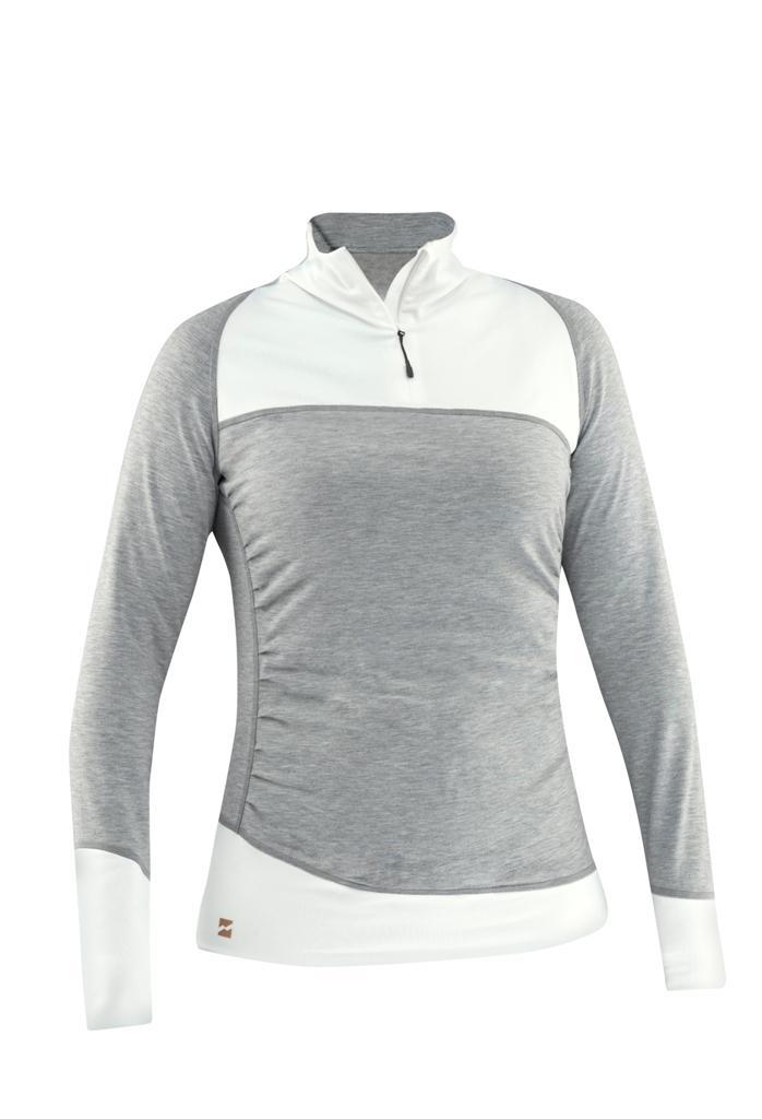 Пуловер Joy Shirt жен.Пуловеры<br><br> Joy Shirt – стильный женский пуловер из новой коллекции горнолыжного бренда Mountain Force. Благодаря оригинальным линиям кроя, умело расположенным складкам в районе талии, модель хорошо прилегает к телу и украшает фигуру. Ткань пуловера прошла обр...<br><br>Цвет: Серый<br>Размер: 44