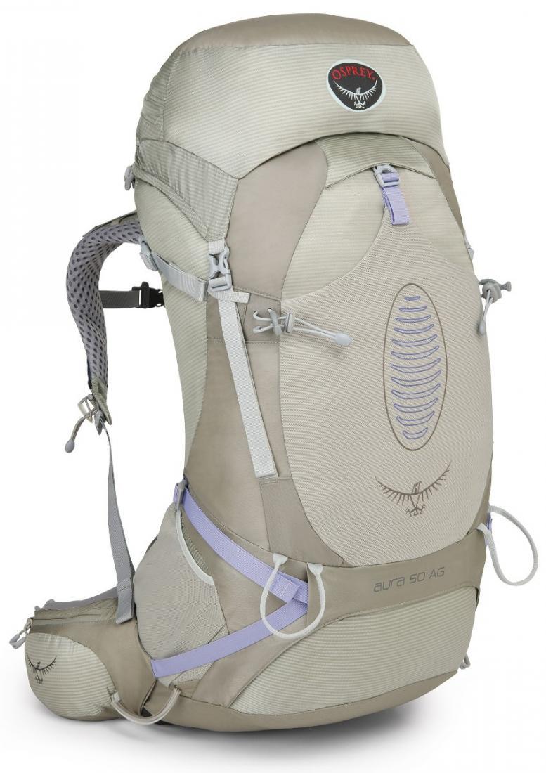 Рюкзак Aura AG 50 WomensТуристические, треккинговые<br>Принципиально новый рюкзак Aura AG оснащен уникальной системой AntiGravity™ с первым в мире полностью вентилируемым поясным ремнем. Где бы вы не ...<br><br>Цвет: Бежевый<br>Размер: 50 л