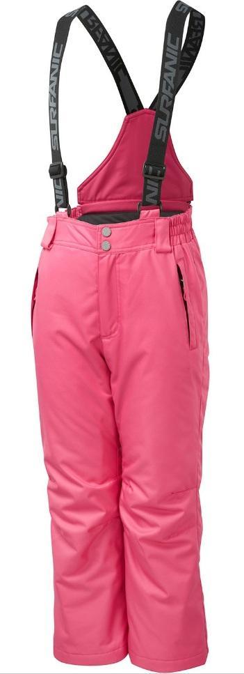 Брюки PIPPA 8K/8K сноуб.д/дев.Брюки, штаны<br>Функциональные брюки для девочек от Surfanic! Усиленная водостойкая мембрана не даст малышке промокнуть, а подтяжки позволят брюкам остаться на месте. Кроме того, их можно пристегнуть к куртке, что обеспечит непревзойденную защиту от снега. Внутри штан...<br><br>Цвет: Розовый<br>Размер: 128