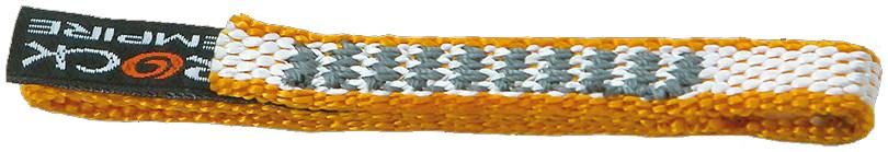 Оттяжки DYNEEMA 10 короткиеОттяжки, петли, самостраховки<br>Оттяжки короткие из материала DYNEEMA<br><br>Материал: Dyneema<br>Ширина:10 мм<br>Длина:11, 16, 21, 26 см<br>Нагрузка:  22 kN<br>Стандарт: EN 566<br>...<br><br>Цвет: Желтый<br>Размер: 16 см