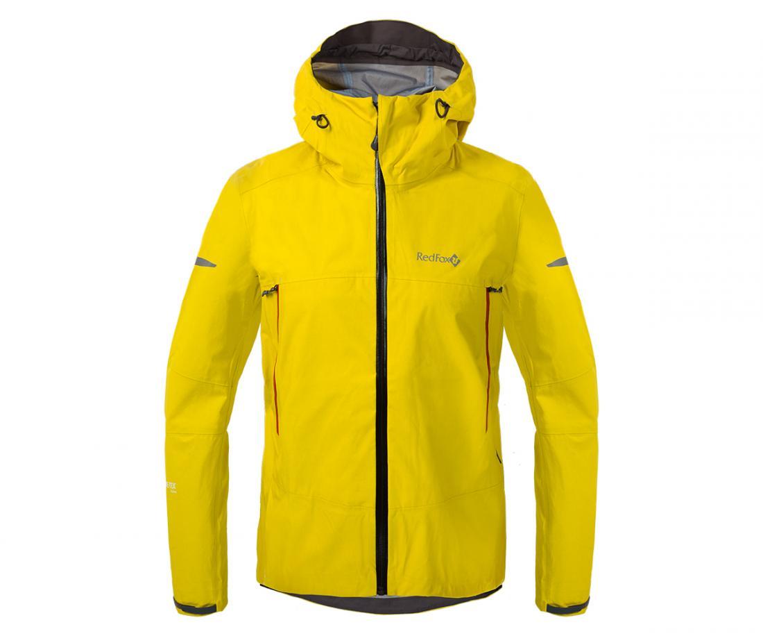 Куртка ветрозащитная SkyКуртки<br><br>Новейшая разработка в серии штормовых курток Red Fox, изготовлена из инновационного материала GORE-TEX® Active Products: самый низкий вес при высокой ...<br><br>Цвет: Желтый<br>Размер: 56
