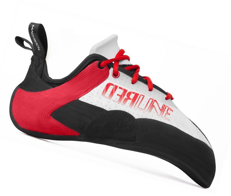 Скальные туфли REDLINEСкальные туфли<br>Стильные скальные туфли Red Line с выгнутой подошвой плотно сидят на ноге и держат ее в правильном положении во время лазания. Специальная конструкция соединения пятки со системой шнуровки обеспечивает максимальный контроль во время движения, а новый д...<br><br>Цвет: Красный<br>Размер: 9
