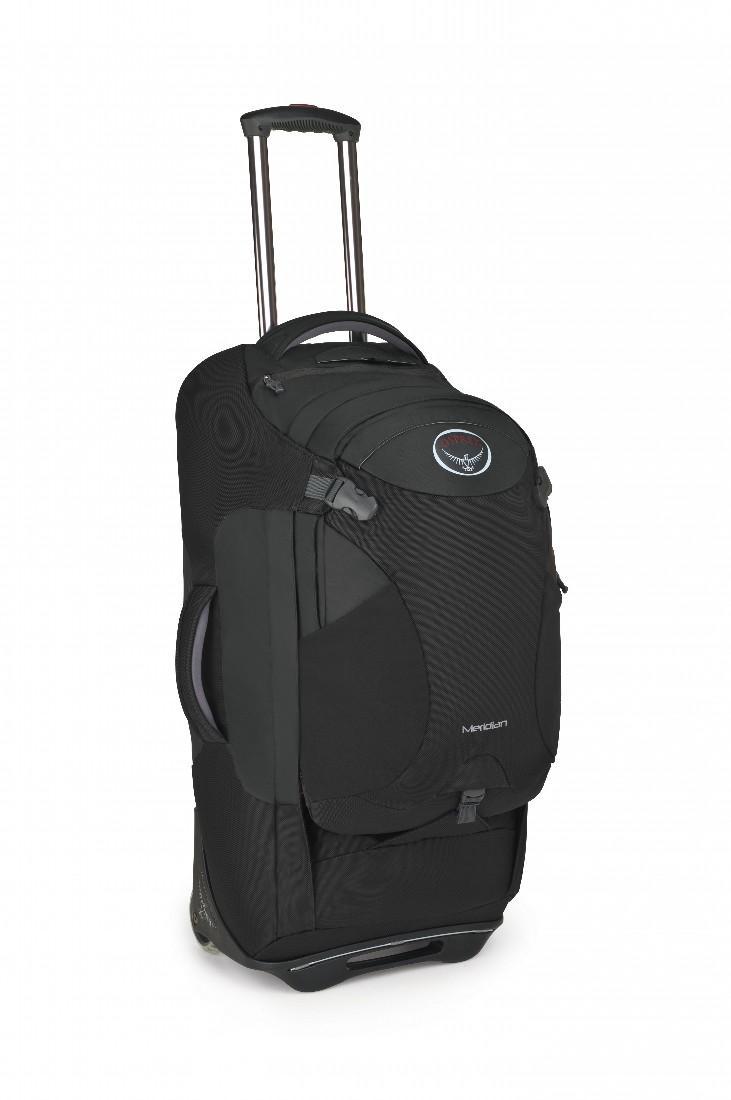 Сумка-рюкзак на колёсах Meridian 75Сумки<br>Удовольствие от путешествия заключается как раз в том, что вы не знаете, что ждет за углом. Камни? Песок? Ступеньки? С сумкой серии Meridian, легко трансформирующейся в рюкзак, вы окажетесь, максимально мобильны в любом путешествии. Она обладает надежн...<br><br>Цвет: Темно-серый<br>Размер: 75 л