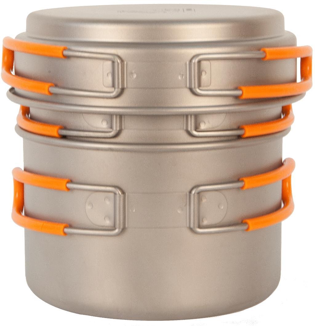Набор посуды (титан) NZ TS-014Кастрюли<br>Титановый набор кастрюли с крышкой 1200+800 мл NZ TS-014 Ti Pot Set — легкий набор посуды из титана. Экологичность, минимальный вес и высокая прочност...<br><br>Цвет: Серый<br>Размер: None