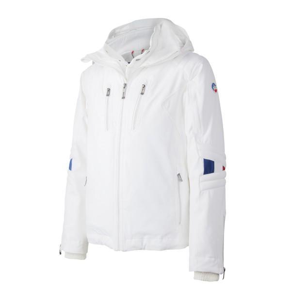 Куртка E2015 COURCHEVEL муж.Куртки<br><br> Мужская лыжная куртка Courchevel была разработана специалистами Fusalp для комфортной езды в любую погоду: морозную, дождливую, ветреную. Приталенный крой и множество функциональных деталей обеспечивают идеальное прилегание модели по фигуре.<br><br>...<br><br>Цвет: Белый<br>Размер: 48