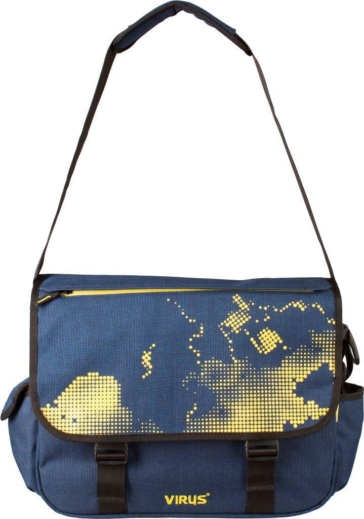 Сумка Virus  UnitСумки<br>Городская сумка Virus Unit горизонтальной формы станет отличной альтернативой привычному рюкзаку. основное отделение состоит из двух частей...<br><br>Цвет: Синий<br>Размер: 30 л