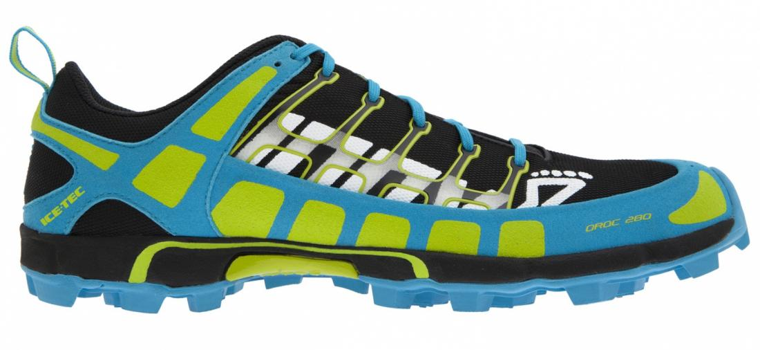 Inov-8 Кроссовки Oroc 280 муж. (13, Black/Blue/Lime, ,) inov 8 футболка at c tri blend ss strip w 6 black pink