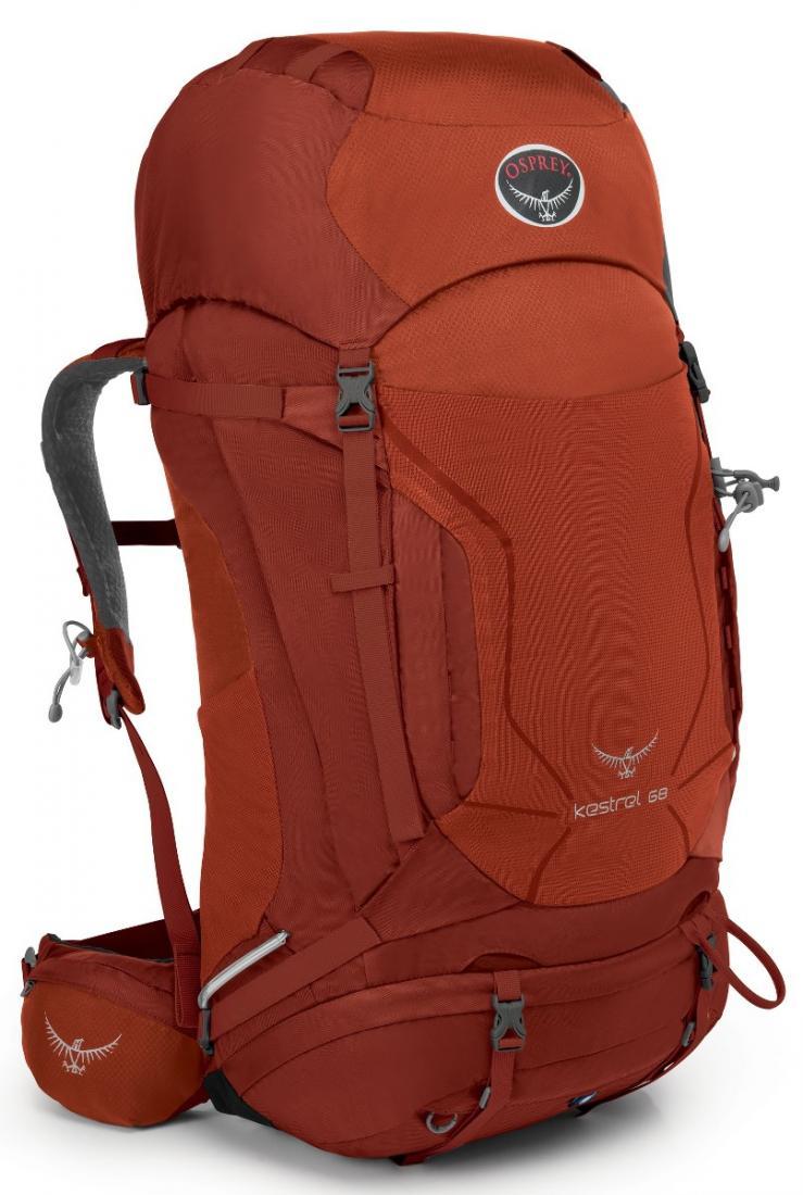 Рюкзак Kestrel 68Рюкзаки<br><br> Универсальные всесезонные рюкзаки серии Kestrel разработаны для самых разных видов Outdoor активности. Специальная накидка от дождя защитит ...<br><br>Цвет: Темно-красный<br>Размер: 65 л