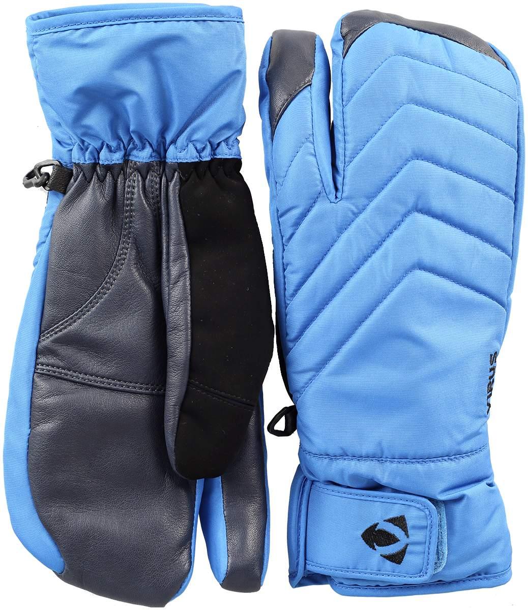 Рукавицы F4Варежки<br>Рукавицы F4 – это «мутация» популярной модели Muzzy. Разделение пальцев делает эту модель больше похожей на рукавицы, что определенно снижает риски обморожения. Кроме того, их оригинальный дизайн дополнен надежной регулировкой запястья, мембраной DryZone ...<br><br>Цвет: Синий<br>Размер: L