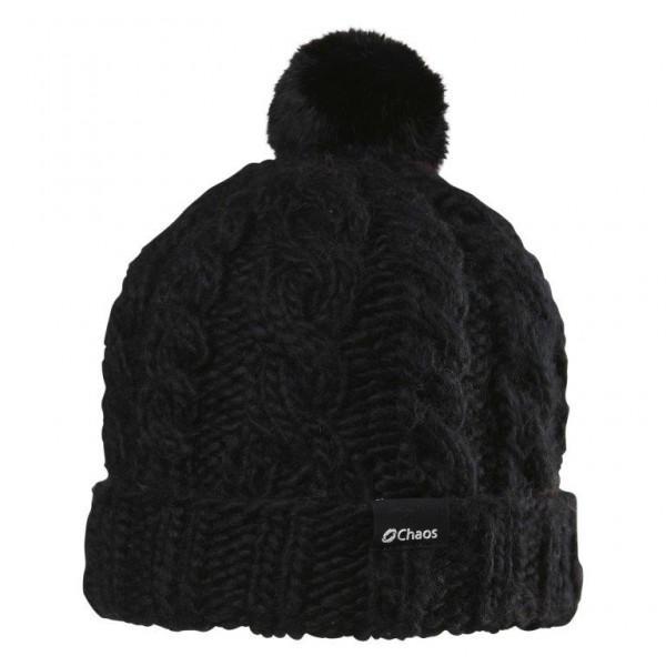 Шапка MiletteШапки<br>Теплая женская шапка из акрила с помпоном из меха и флисовым утеплителем.<br> Состав: 100% акрил, утеплитель - флис.<br><br>Цвет: Черный<br>Размер: None