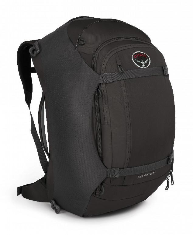 Сумка-рюкзак Porter 65Рюкзаки<br>Porter 65 - идеальный надежный и удобный рюкзак для путешествий. Несколько карманов внутри основного отделения позволяют разложить все вещи по местам. Опытным путешественникам понравится передний карман с мягким отсеком для ноутбука или планшета. Тради...<br><br>Цвет: Черный<br>Размер: 65 л