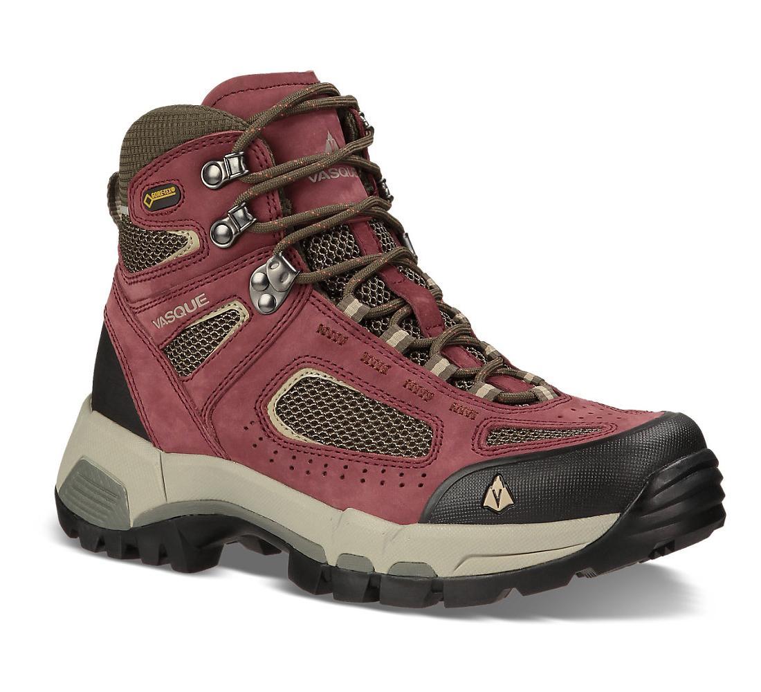 Ботинки жен. 7485 Breeze 2.0 GTXТреккинговые<br><br><br><br> Высокие ботинки Vasque 7485 Breeze 2.0 GTX созданы для женщин, желающих чувствовать себя комфортно всегда и везде. Модель, предназначенная для туризма и длительных пеших прогулок, изготовлена из прочных дышащих материалов, которые отводя...<br><br>Цвет: Бордовый<br>Размер: 10