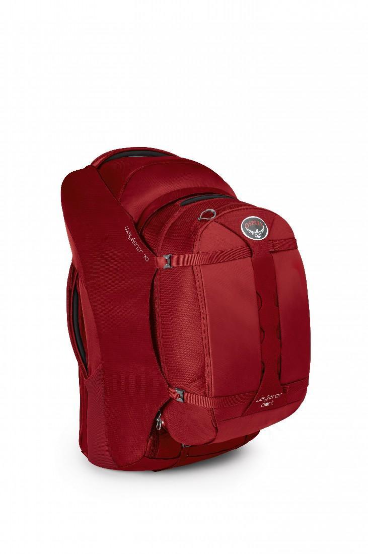 Сумка Wayfarer 70Сумки<br>Wayfarer 70   элитный женский рюкзак для путешествий на длинные дистанции. Оснащен полностью регулируемыми, убирающимися при необходимости лямками и поясным ремнем, которые сконструированы с учетом строения женской фигуры. С помощью уникальной компресс...<br><br>Цвет: Красный<br>Размер: 70 л