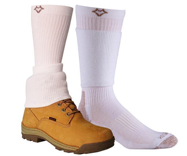 Носки рабочие 6522 CuffSox? HighНоски<br>Революционная технология носка CuffSox® с запатентованным вторым манжетом, который одевается поверх ботинка и защищает его от истирания, грязи, мелкого грунта, камней и различных повреждений.<br><br>Уникальная система посадки URfit™<br>&lt;li...<br><br>Цвет: Белый<br>Размер: L