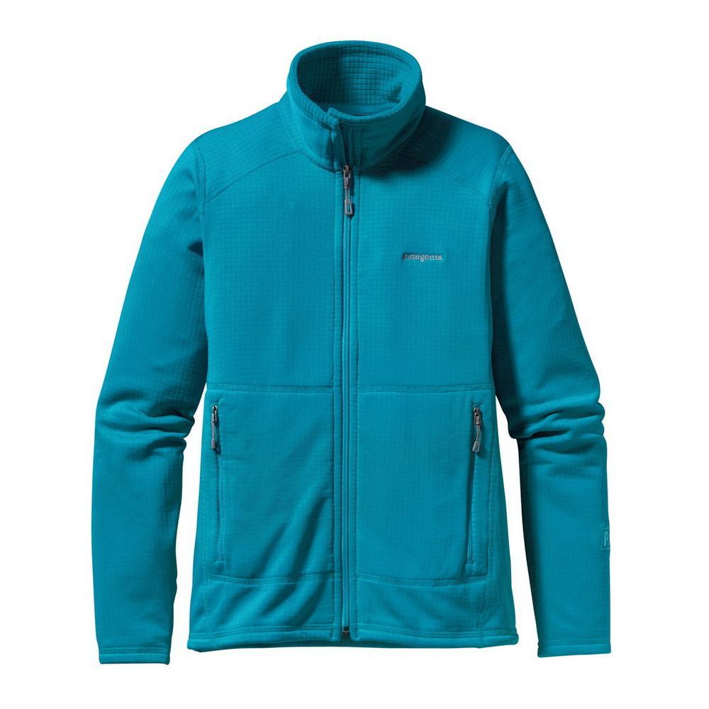 Куртка 40136 R1 FULL-ZIP жен.Куртки<br><br>Женская куртка Patagonia R1 FULL-ZIP изготовлена из мягкого и теплого флиса и может надеваться как отдельно, так и в качестве дополнительного уте...<br><br>Цвет: Голубой<br>Размер: XS